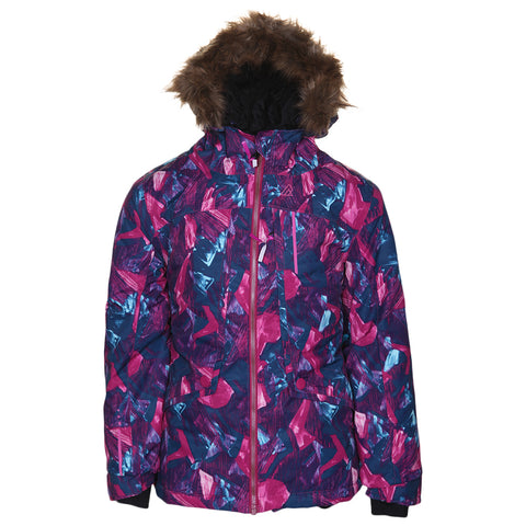 RIPZONE GIRLS LAVA INSULATED JACKET RETRO LINE PRINT