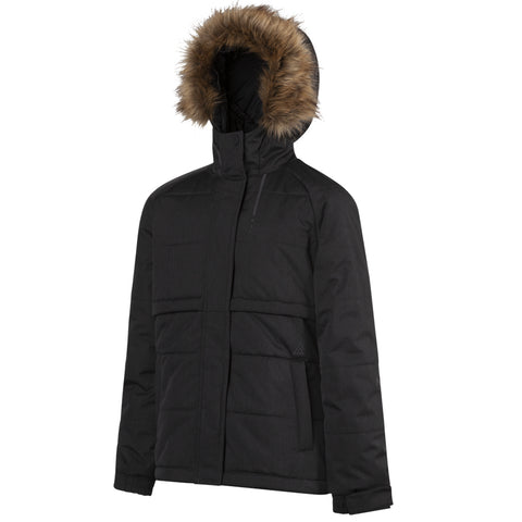 RIPZONE GIRLS DOODLE INSULATED PUFFA JACKET BLACK