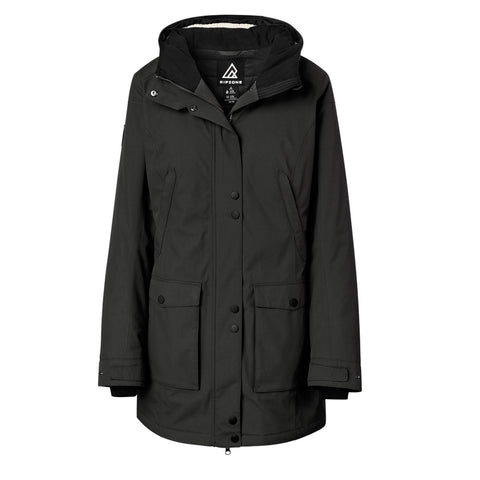 RIPZONE WOMEN'S LIBERTY PARKA BLACK