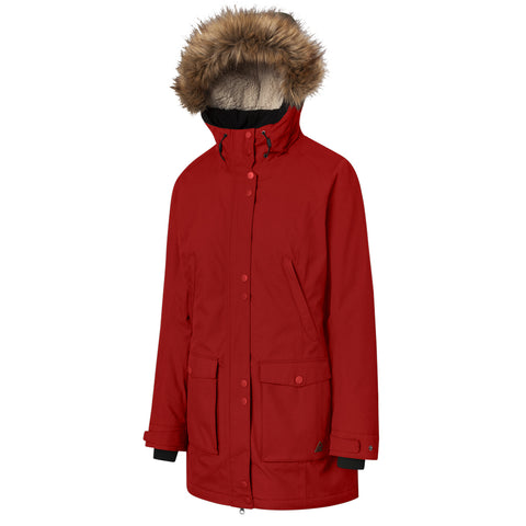 RIPZONE WOMEN'S LIBERTY PARKA BARBADOS RED