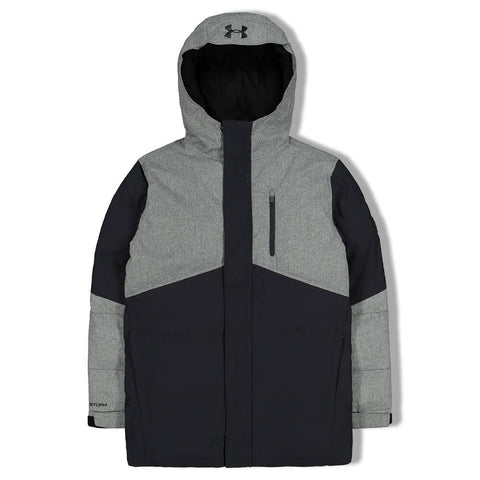 UNDER ARMOUR BOYS SUPERTHAW JACKET BLACK/WIRE HEATHER