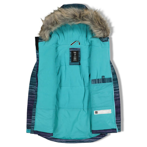 UNDER ARMOUR GIRLS LAILA JACKET TANDEM TEAL COMET