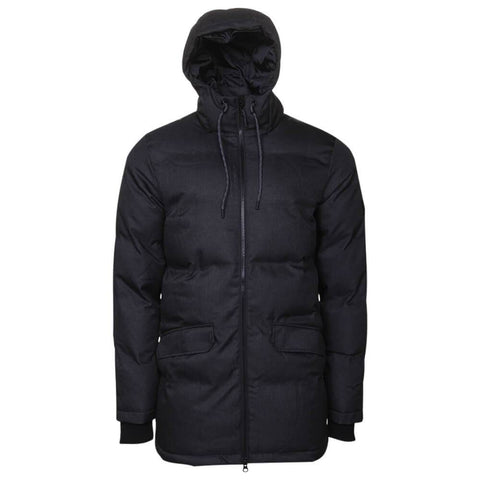 MCKINLEY MEN'S OAKLAND DOWNLOOK PARKA BLACK MELANGE FRONT
