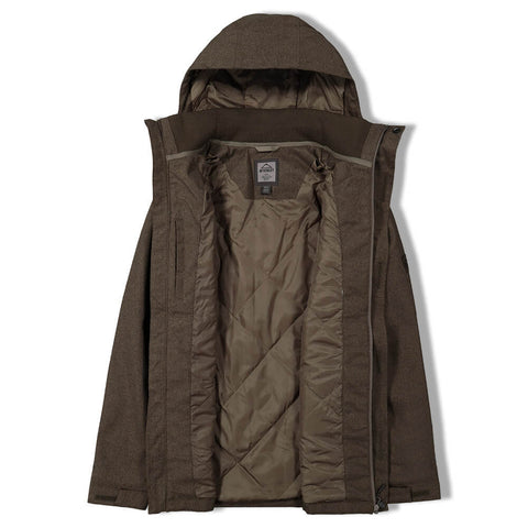MCKINLEY MEN'S BUSTER INSULATED SOFTSHELL BLACK OLIVE MELANGE