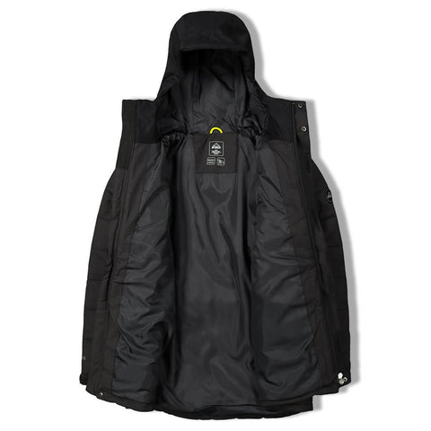 MCKINLEY BOYS PICHU DOWN LOOK PARKA BLACK MELANGE