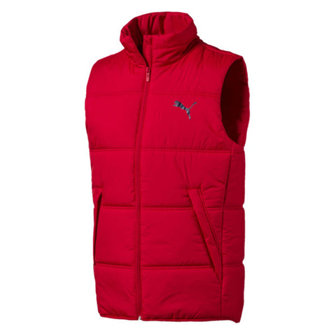 PUMA MEN'S ESSENTIALS PADDED VEST HIGH RISK RED