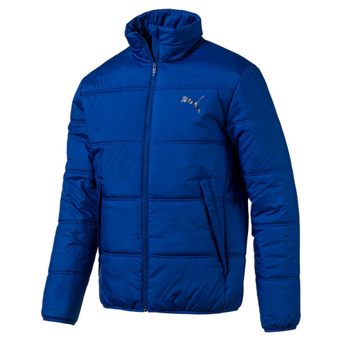 PUMA MEN'S ESSENTIALS PADDED JACKET GALAXY BLUE