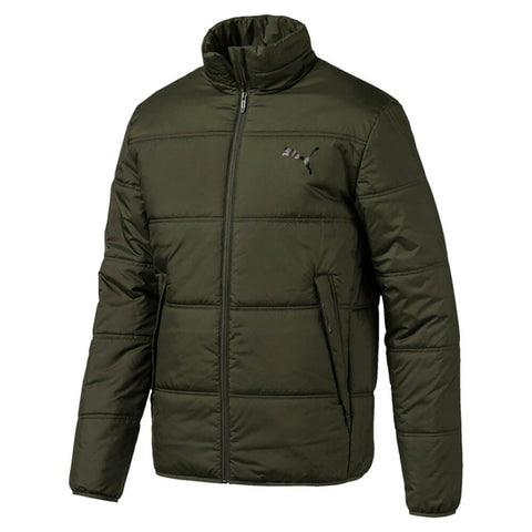 PUMA MEN'S ESSENTIALS PADDED JACKET FOREST NIGHT