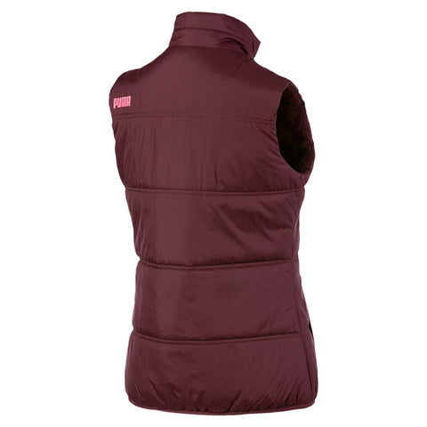 PUMA WOMEN'S ESSENTIALS PADDED VEST VINYARD WINE