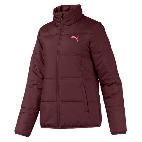 PUMA WOMEN'S ESSENTIALS PADDED JACKET VINYARD WINE