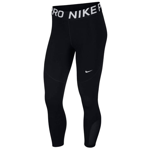 NIKE WOMEN'S NP CROP TIGHT BLACK/ WHITE