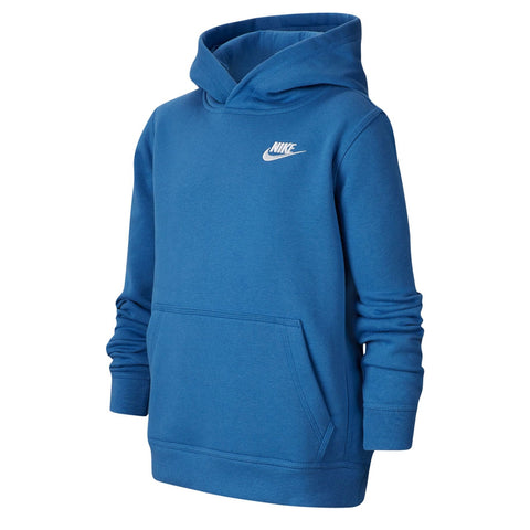 NIKE BOY''S CLUB PULLOVER HOODY MOUNTAIN BLUE