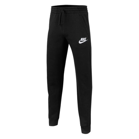 NIKE BOY'S CLUB FLEECE JOGGER PANT BLACK/BLACK/WHITE
