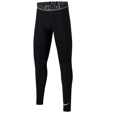 NIKE BOY'S PRO TIGHT BLACK