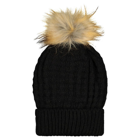 RIPZONE GIRLS NOEMIE POM TOQUE BLACK