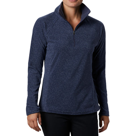 COLUMBIA WOMEN'S GLACIAL IV PRINT 1/2 ZIP NOCTURNAL SPARKLER PRINT