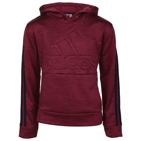 ADIDAS BOY'S EMBOSSED PULLOVER COLLEGIATE BURGUNDY