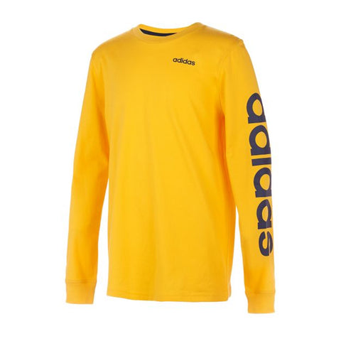 ADIDAS BOY'S SLEEVE LINEAR LONG SLEEVE TEE ACTIVE GOLD