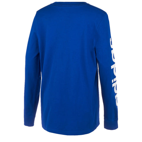 ADIDAS BOY'S SLEEVE LINEAR LONG SLEEVE TEE COLLEGIATE ROYAL