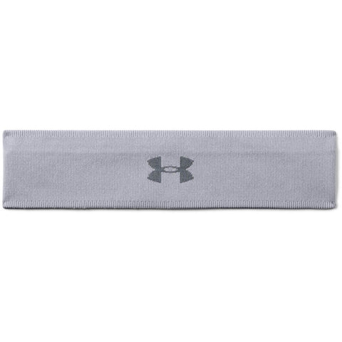 UNDER ARMOUR WOMEN'S JACQUARD PERFORMANCE HEADBAND STEEL