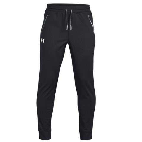 UNDER ARMOUR BOY'S PENNANT TAPERED PANT BLACK/WHITE