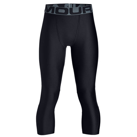 UNDER ARMOUR BOY'S ARMOUR HEATGEAR 3/4 LEGGING BLACK/PITCH GREY