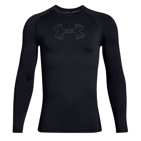 UNDER ARMOUR BOY'S ARMOUR LONG SLEEVE BLACK/GREY