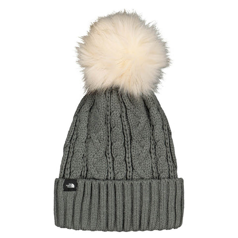 THE NORTH FACE WOMEN'S OH-MEGA POM BEANIE MEDIUM GREY HEATHER