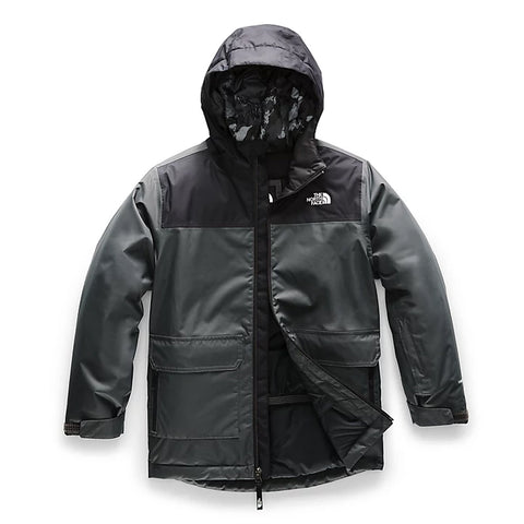 THE NORTH FACE BOYS FREEDOM INSULATED JACKET ASPHALT GREY