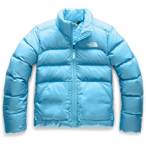 THE NORTH FACE GIRLS ANDES DOWN JACKET TURQUOISE BLUE