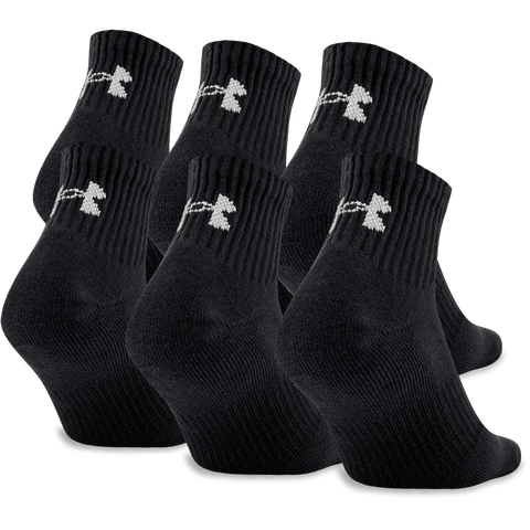 UNDER ARMOUR Y CHARGED CTN 2.0 QTR 6PK LRG BLK