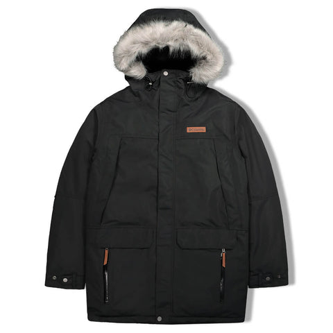 COLUMBIA MEN'S  CANYON LONG DOWN PARKA BLACK