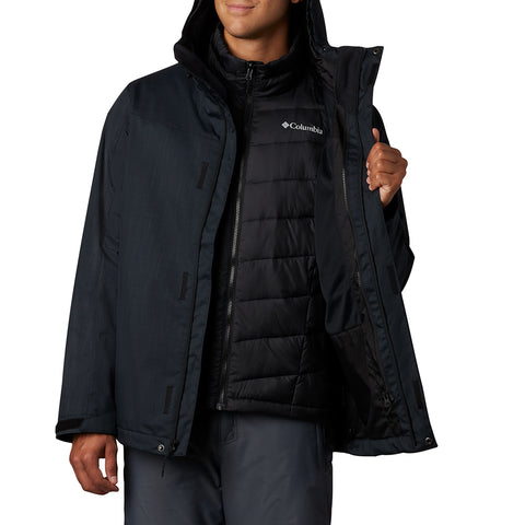 COLUMBIA MEN'S WHIRLIBIRD IV INTERCHANGE 3 IN 1 OMNIHEAT OMNITECH JACKET