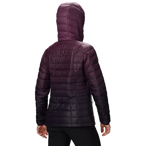 COLUMBIA WOMEN'S VOODOO FALLS 590 TURBODOWN JACKET BLACK CHERRY