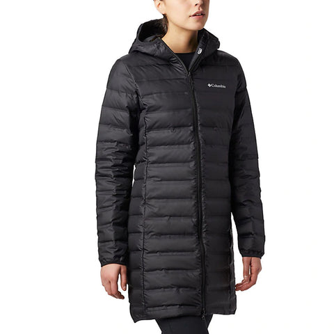 COLUMBIA WOMEN'S LAKE 22 DOWN HOODED JACKET BLACK