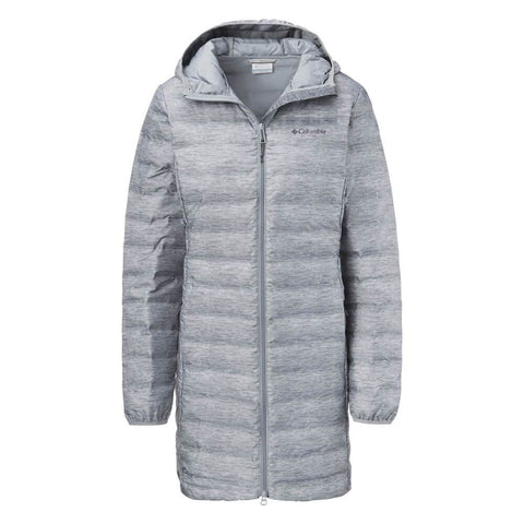 COLUMBIA WOMEN'S LAKE 22 DOWN JACKET TRDEWINDS GREY