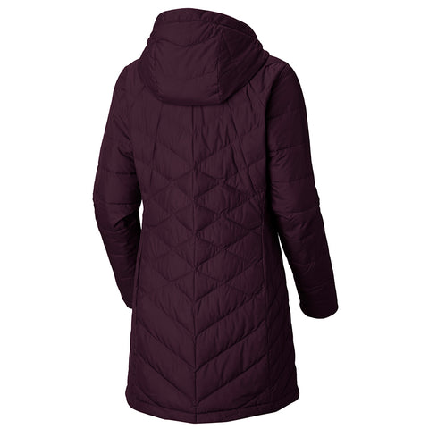COLUMBIA WOMEN'S HEAVENLY LONG JACKET EXTENDED SIZE BLACK CHERRY