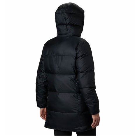 COLUMBIA WOMEN'S PUFFECT MID HOODED JACKET BLACK BACK