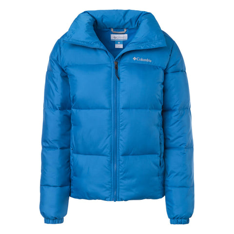 COLUMBIA WOMEN'S PUFFECT JACKET FATHOM BLUE FRONT