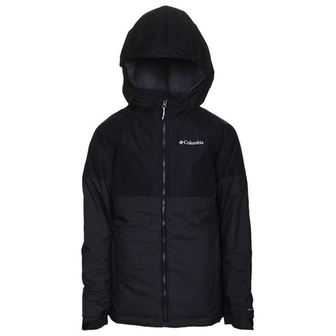 COLUMBIA BOYS ALPINE ACTION II JACKET BLACK HEATHER