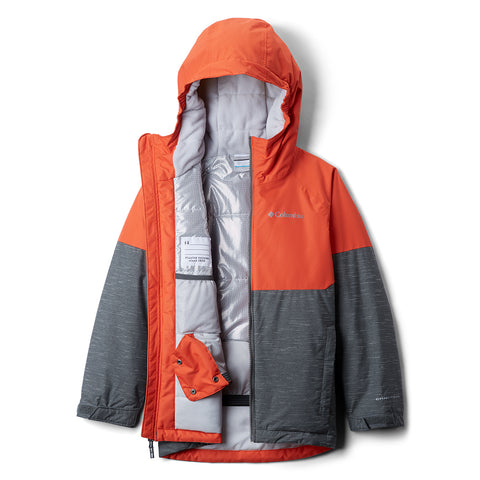 COLUMBIA BOYS ALPINE ACTION II JACKET GRILL HEATHER/ORANGE