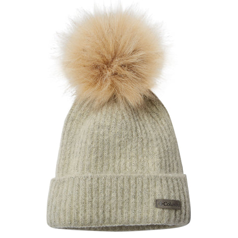 COLUMBIA WOMEN'S WINTER BLUR POM BEANIE CHALK