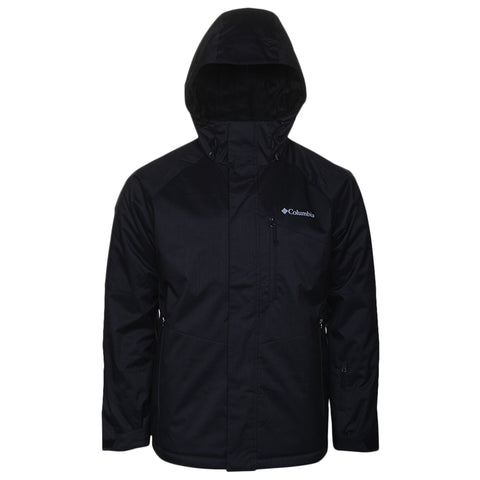 COLUMBIA MEN'S CHUTERUNNER II JACKET BLACK HEATHER BACK