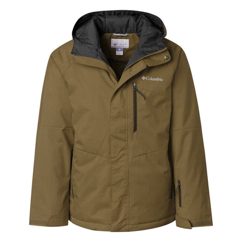 COLUMBIA MEN'S CHUTERUNNER II JACKET OLIVE BROWN HEATHER FRONT