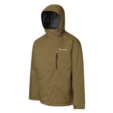 COLUMBIA MEN'S CHUTERUNNER II JACKET OLIVE BROWN HEATHER
