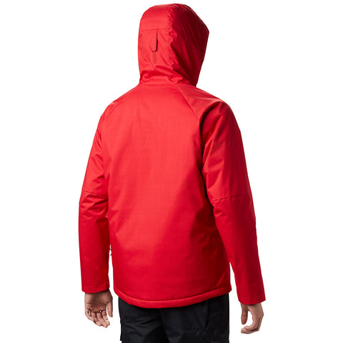 COLUMBIA MEN'S CHUTERUNNER II JACKET MOUNTAIN RED HEATHER