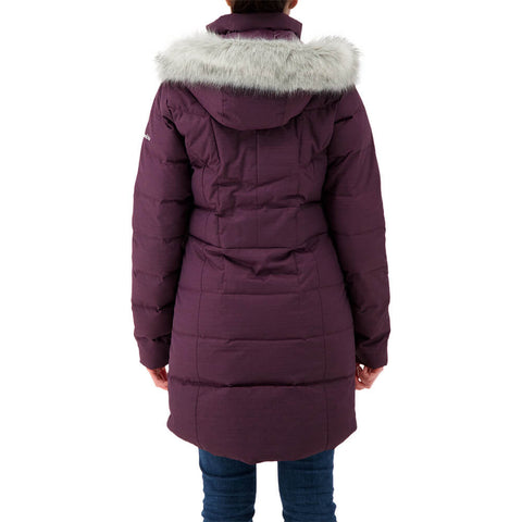 COLUMBIA WOMEN'S MONTFERLAND MID JACKET BLACK CHERRY TEXT