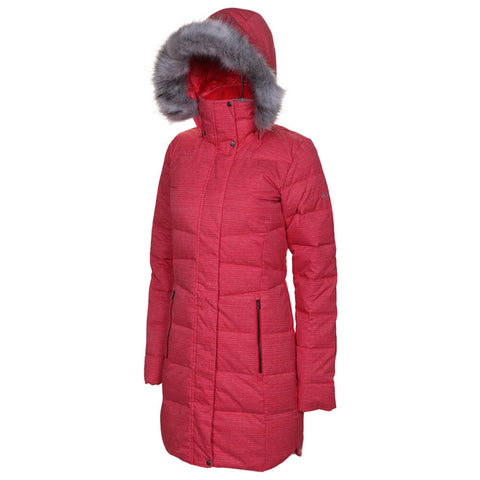 COLUMBIA WOMEN'S MONTFERLAND MID JACKET RED LILLY