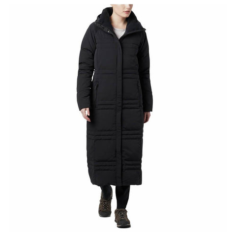COLUMBIA WOMEN'S RUBY FALLS DOWN LONG JACKET BLACK