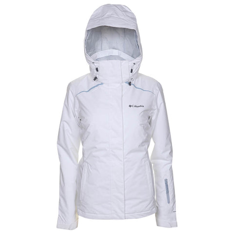 COLUMBIA WOMEN'S ON THE SLOPE JACKET WHITE/GREY